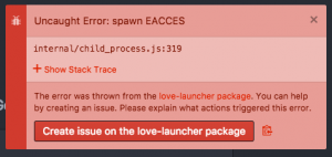 ATOM love-launcher Error