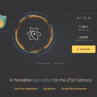 テキストエディタ atom v1.25.1
